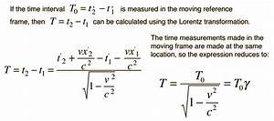 Time Dilation  Length Contraction