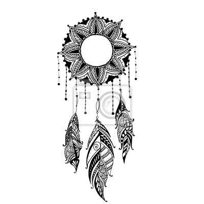 Lune Tatouage Mandala