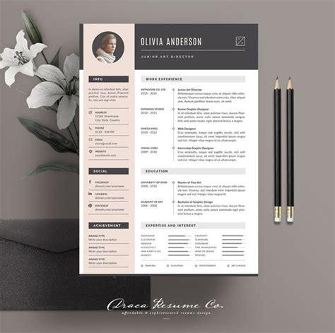 professional resume template modern cv template creative