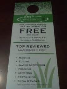 landscaping flyers samples lawn care door hanger