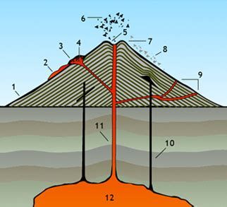 Diagram Of A Hawaiian Volcano by Anatomy Of A Volcano Explore The Basic Geological