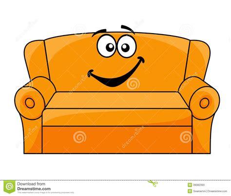 tecknad film stoppad soffa vektor illustrationer