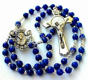 Beautiful  U0026 Durable Lapis Lazuli Gemstone Catholic Rosary