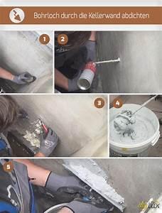 Loch In Wand Verputzen : bohrloch durch die kellerwand abdichten anleitung ~ Orissabook.com Haus und Dekorationen