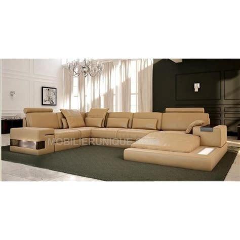 canapé panoramique cuir center canapé d 39 angle panoramique design en cuir italien achat