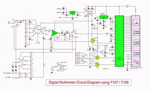 Digital Multimeter Circuit Using Icl7107