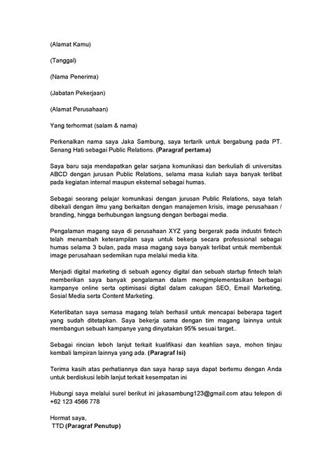 Contoh Cover Lamaran Kerja by 9 Langkah Lamaran Kerja Untuk Memulai Karirmu Di 2018