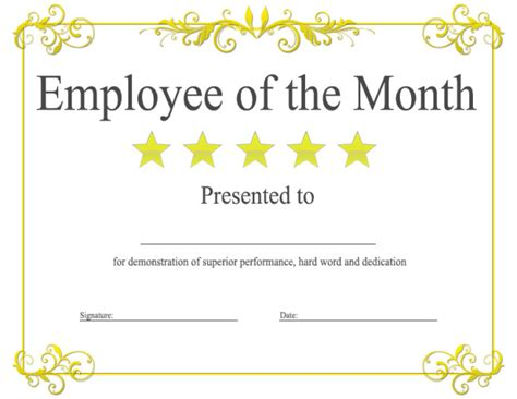epic editable template   employee   month