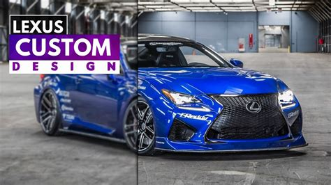 lexus rcf greddy concept ultrasonic blue mica youtube