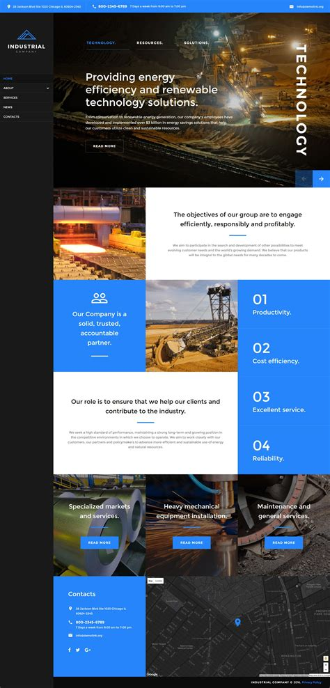 Responsive Website Templates Mining Company Responsive Website Template New Website