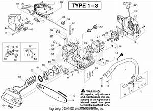 Poulan Pp220 Gas Chain Saw Type 1  220 Gas Chain Saw Parts Diagram For Starter Type 1