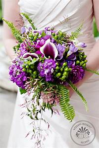 Stunning Purple and Green Wedding Bouquets