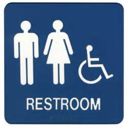 unisex bathroom ideas demco restroom signs
