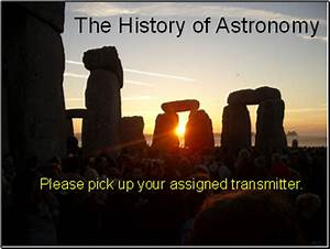 Astronomy: List of presentations - SliderBase