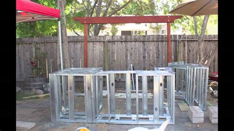 building  outdoor kitchen island youtube