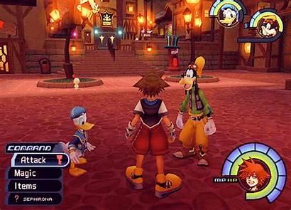 Hearts Kingdom Traverse Town Sora Goofy Donald