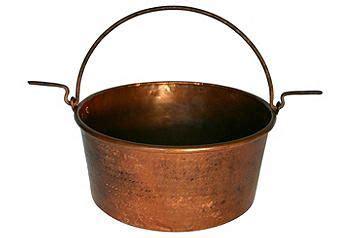 set  scene  kings lane vintage copper hammered copper copper cookware