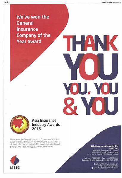 Msig Malaysia Ad Announcement Insurance Company General