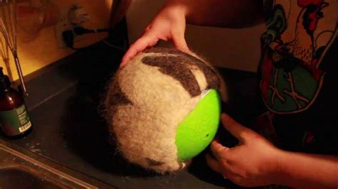 hat felting process   ball youtube