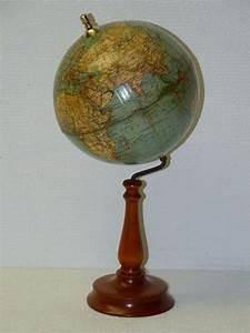 Globe Terrestre En Bois : columbus globe terrestre avec support en bois catawiki ~ Teatrodelosmanantiales.com Idées de Décoration