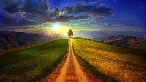 日落唯美风景壁纸_大自然绝美风景_风景壁纸_精品库