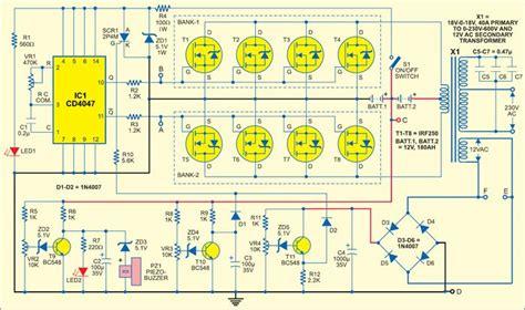 sine wave inverter circuit diagram  full explanation