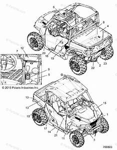 Polaris Side By Side 2016 Oem Parts Diagram For Body