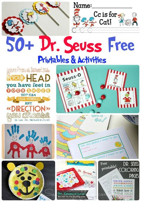 50 free dr seuss printables activities and crafts 152   7c8721ba849835efb005568860e5e1b4 preschool age learning time