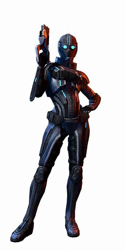 Sentinel Human Adept Female Mass Effect Character