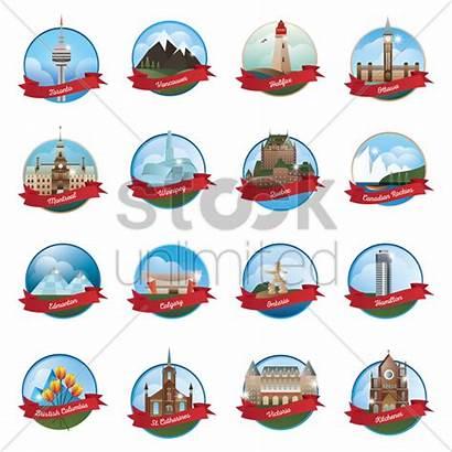 Landmarks Canada Vector Stockunlimited Graphic
