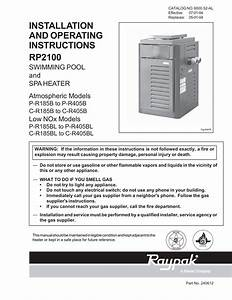 Raypak 2100 Pool Heater Wiring Diagram