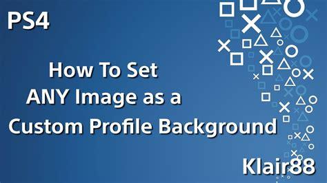 set  image   custom profile background  ps
