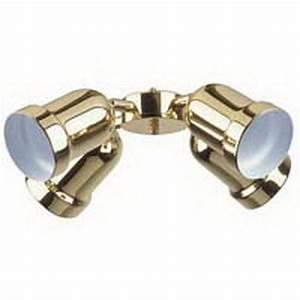 Polished brass light bullet ceiling fan kit