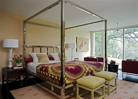 chrome canopy bed chrome canopy bed contemporary bedroom angie hranowsky