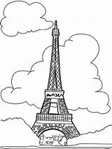 French Eiffel Coloring Tower Drawing Paris Proud Printable Line Colouring Getcolorings Getdrawings Revolution sketch template