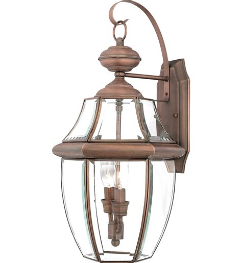 quoizel ny8317ac newbury aged copper 2 light outdoor