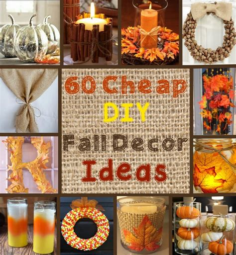 60 Cheap Diy Fall Decor Ideas  Prudent Penny Pincher