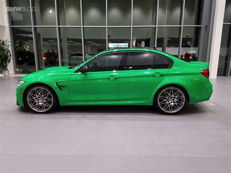 bmw m3 competition package in signal green