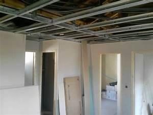 Pose D Un Faux Plafond En Ba13 : faux plafond et cloisons ba13 jp services ~ Melissatoandfro.com Idées de Décoration