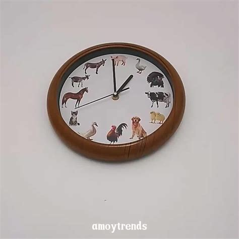 animal sound wall clock buy animal sound wall clock
