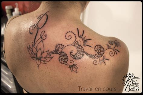 Laurelarth Tattoo Lyon Dentelle Lotus Arabesques