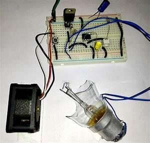 Simple Air Flow Detector Circuit Diagram