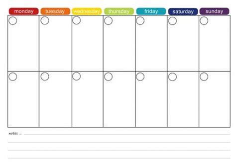 Week Calendar Template Printable 2 Week Calendar Two Week Calendar Template