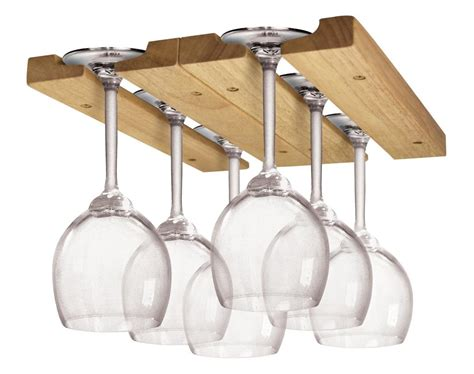 Kitchen Kaboodle Wine Glasses by Fox Run 5025 Wine Glass Rack Wood Kitchen