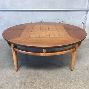 6039s lane round coffee table burl inlaid squares With 60 round coffee table