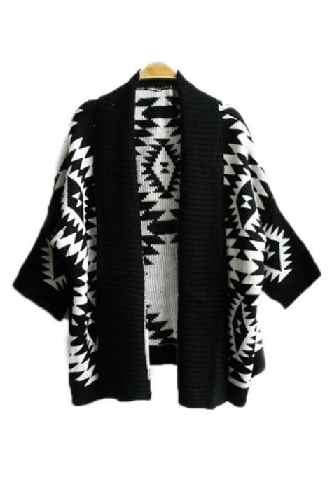 black elegant ladies long sleeve aztec cardigan sweater coat pink queen