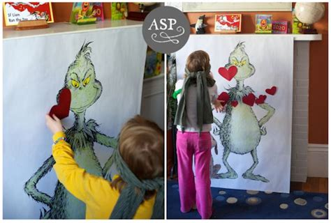 Party Game Pin the Heart On Grinch