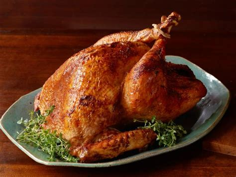 turkey recipes oven roasted turkey recipe the neelys food network