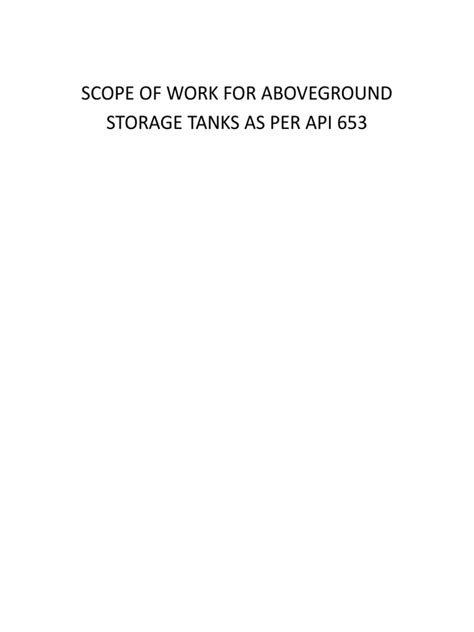 Scope of Work_API 653 Inspections of Aboveground Storage
