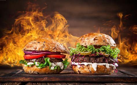 burger steak fire hd wallpapers